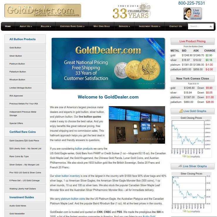 GoldDealer com - CNI Reviews | Gold Dealer Reviews