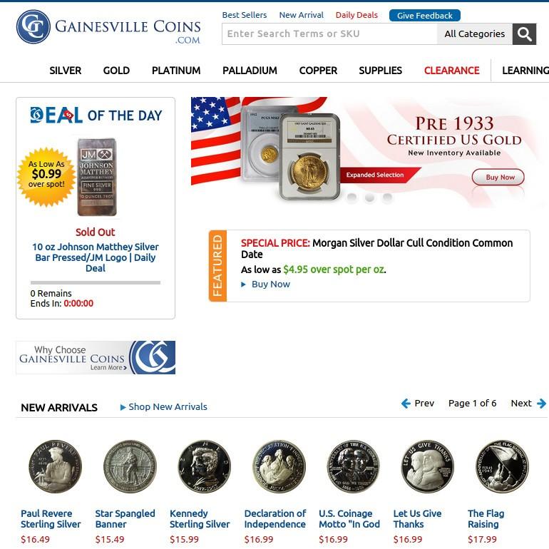 gainesville coin shop