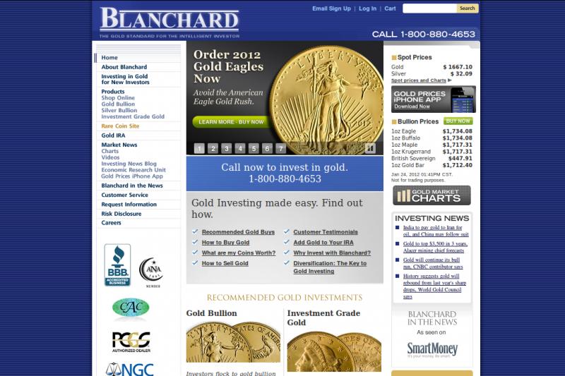 Blanchard Online Reviews Gold Dealer