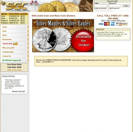 SGC Gold Coin and Rare Coin Dealers