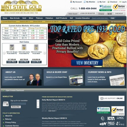 Mint State Gold